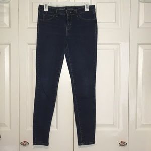 Mossimo Mid-Rise Jegging Dark Blue Size 6/28R